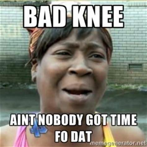 knee pain meme